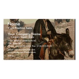 Natural de Belén en su burro, Tierra Santa, (es de Plantillas De Tarjeta De Negocio