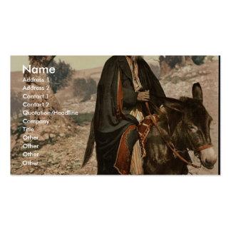 Natural de Belén en su burro, Tierra Santa, (es de Tarjetas De Negocios