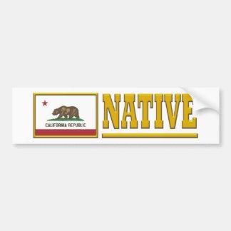 Natural de California Etiqueta De Parachoque