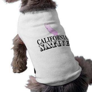 Natural de California Playera Sin Mangas Para Perro