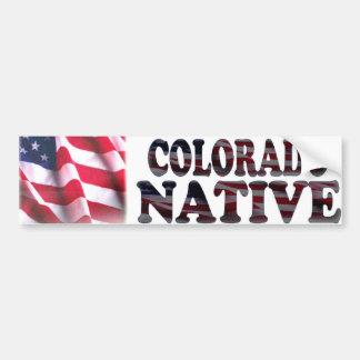 Natural de Colorado Pegatina De Parachoque