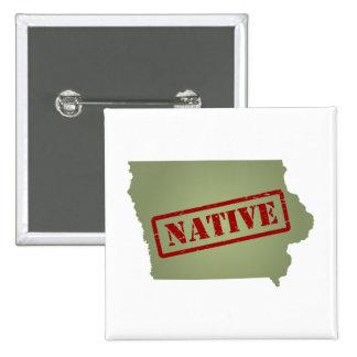 Natural de Iowa con el mapa de Iowa Pins