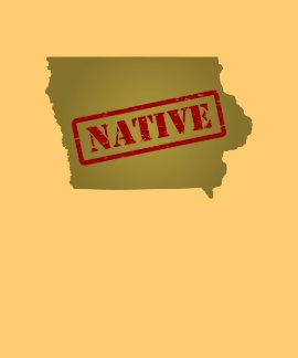 Natural de Iowa con el mapa de Iowa Camiseta