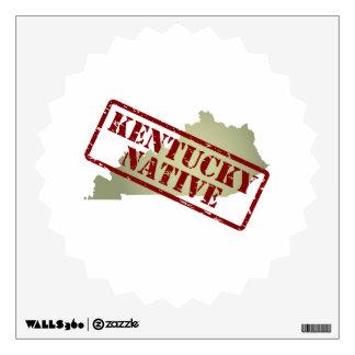 Natural de Kentucky sellado en mapa Vinilo Adhesivo