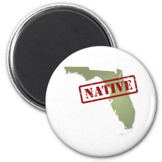 Natural de la Florida con el mapa de la Florida Imán De Nevera