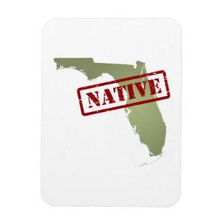 Natural de la Florida con el mapa de la Florida Imanes Flexibles