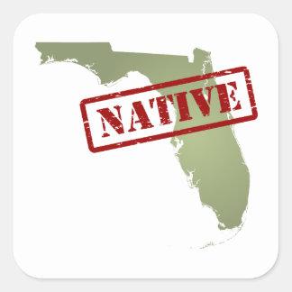 Natural de la Florida con el mapa de la Florida Pegatina Cuadrada