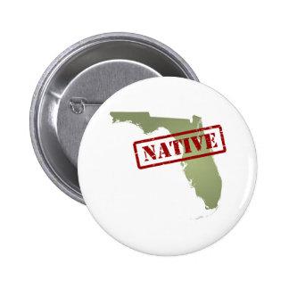 Natural de la Florida con el mapa de la Florida Pin Redondo 5 Cm
