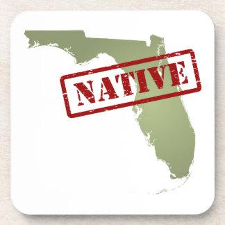 Natural de la Florida con el mapa de la Florida Posavasos De Bebida