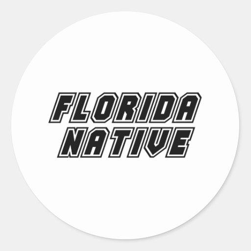 Natural de la Florida Pegatina Redonda