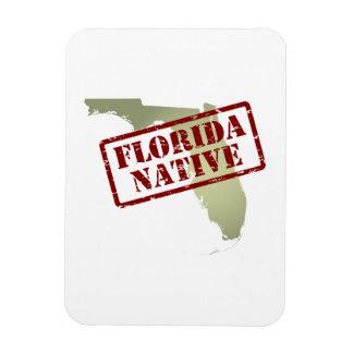 Natural de la Florida sellado en mapa Imanes Flexibles