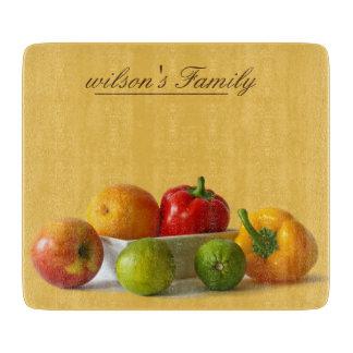 Natural de la fruta y verdura personalizado tabla para cortar