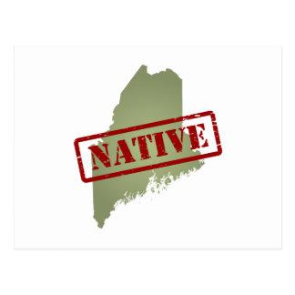 Natural de Maine con el mapa de Maine Postales