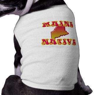 Natural de Maine Playera Sin Mangas Para Perro