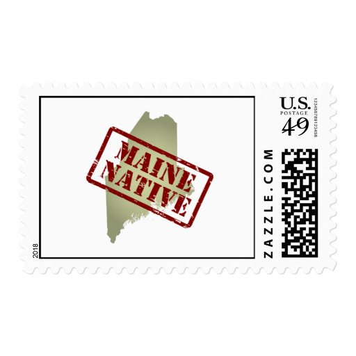 Natural de Maine sellado en mapa Sello Postal