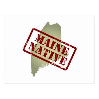 Natural de Maine sellado en mapa Tarjetas Postales