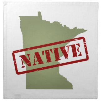 Natural de Minnesota con el mapa de Minnesota Servilleta Imprimida