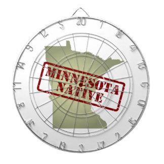 Natural de Minnesota sellado en mapa Tablero Dardos