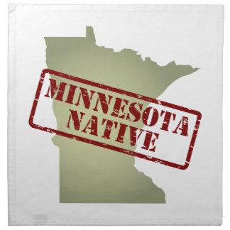 Natural de Minnesota sellado en mapa Servilletas De Papel
