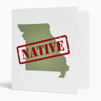 "Natural de Missouri con el mapa de Missouri Carpeta 1"""
