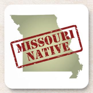 Natural de Missouri sellado en mapa Posavasos De Bebida