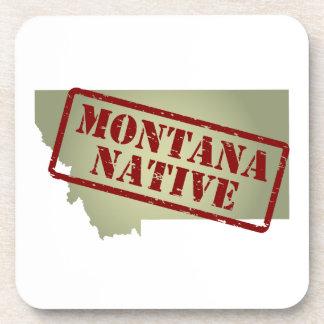Natural de Montana sellado en mapa Posavasos