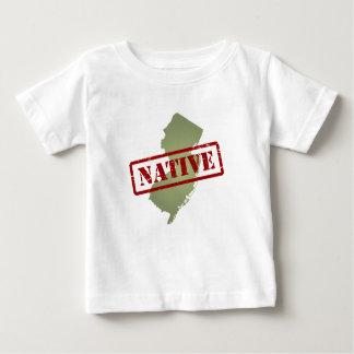 Natural de New Jersey con el mapa de New Jersey Playera