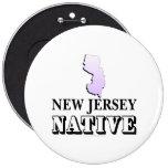 Natural de New Jersey Pins
