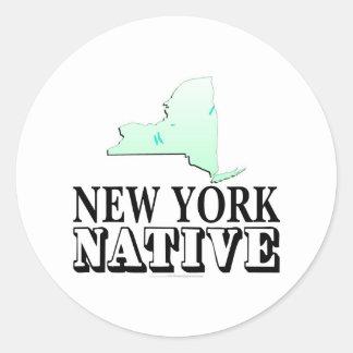 Natural de Nueva York Pegatina Redonda