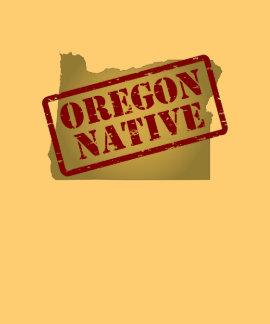 Natural de Oregon sellado en mapa Camisetas