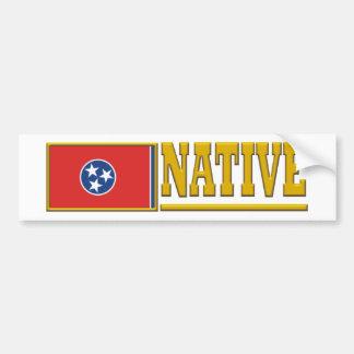 Natural de Tennessee Pegatina De Parachoque