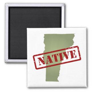Natural de Vermont con el mapa de Vermont Imán Cuadrado