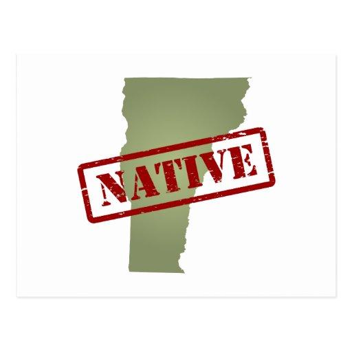 Natural de Vermont con el mapa de Vermont Postal