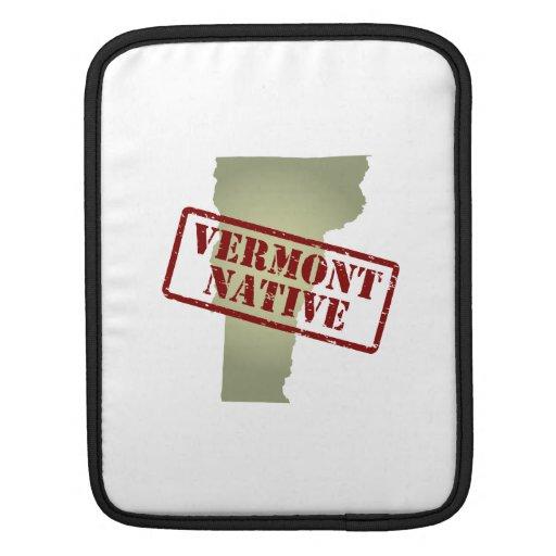 Natural de Vermont sellado en mapa Funda Para iPads