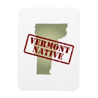 Natural de Vermont sellado en mapa Imanes De Vinilo