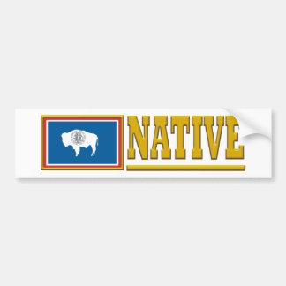 Natural de Wyoming Pegatina Para Auto