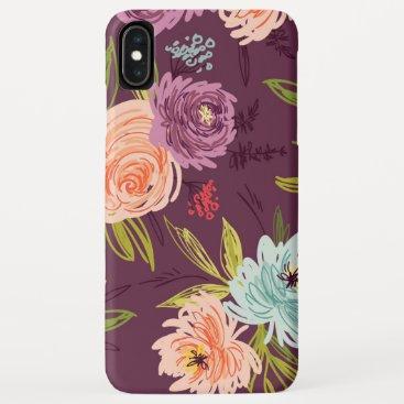 Natural Decorative Rose Art iPhone XS Max Case