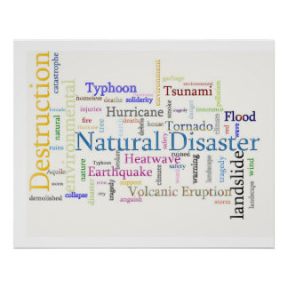 Natural Disaster Related Text Poster