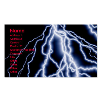 Natural Disasters lightning cards business Pack Of Standard Business Cards