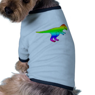 Natural divertido del arco iris de T-Rex Camiseta Con Mangas Para Perro