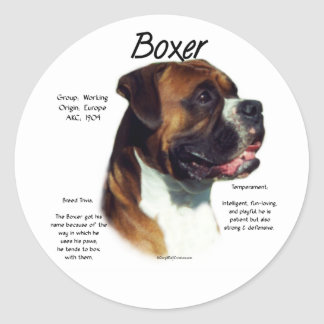 Natural Ear Boxer Meet the Breed Sticker