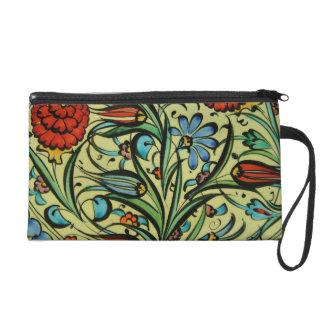 Natural Earthy Colors Orient Ceramic Floral Art Wristlet