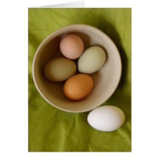 Natural Eggs Greeting Card