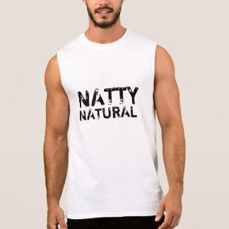 Natural elegante camiseta sin mangas