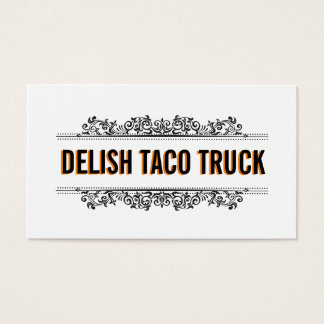 Natural Elements   Food Truck Business Card