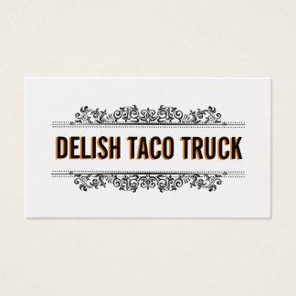 Natural Elements   Food Truck (Menu Option) Business Card