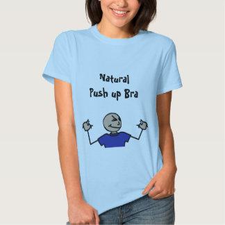 Natural empuje hacia arriba el camisetas del remeras