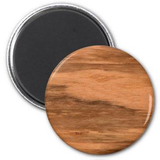 Natural Eucalyptus Wood Grain Look 2 Inch Round Magnet