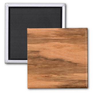 Natural Eucalyptus Wood Grain Look 2 Inch Square Magnet