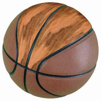 Natural Eucalyptus Wood Grain Look Basketball